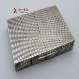 .Plaid Solid Silver Rectangular Box 1930