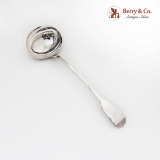 .English Soup Ladle Crown Crest William Chawner II Sterling Silver 1819