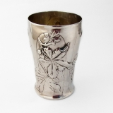 .French Chestnut Beaker Gilt Interior Henin Cie 950 Sterling Silver 1900s
