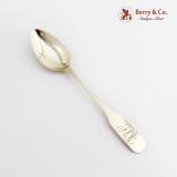 .American Colonial Coffee Spoon Coin Silver Mono SCB