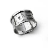 .English Lined Napkin Ring Rolason Bros Sterling Silver 1946 Mono C