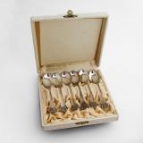 .Anitra Demitasse Spoons Set Magnus Aase 830 Standard Silver Norway Boxed