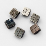 .William Spratling Small Square Buttons Set 980 Sterling Silver 1938 Taxco