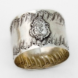 .Louis XVI Style Napkin Ring French 950 Sterling Silver Mono ED