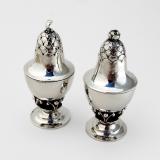 .Georg Jensen Blossom Salt Pepper Shakers Set Sterling Silver 1915 Denmark