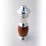 .Italian Salt Shaker Pepper Grinder Olive Wood Luigi Genoni Sterling Silver