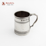 .English Mug Form Shot Cup Edward Barnard Sterling Silver 1937