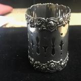 .Open Work Napkin Ring Sterling Silver Watrous 1900