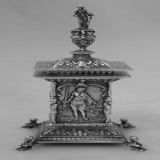 .English Sterling Four Graces Inkwell 1911