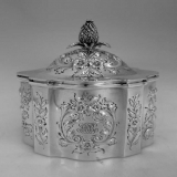 .Repousse Tea Caddy Black Starr & Frost 1885