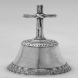 .Aesthetic Cross Table Bell Heavy Cast American1890