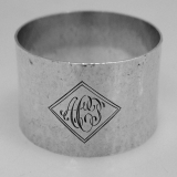 .Arts and Crafts Sterling Silver Napkin Ring J E Blake Sterling Silver 1910
