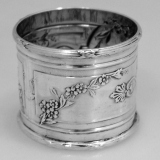 .English Sterling Silver Ribbon and Thread Napkin Ring