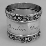 .Sterling Silver Lily Napkin Ring International 1900