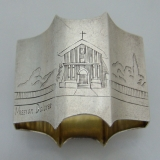 .Sterling Silver Napkin Ring Mission Dolores 1920