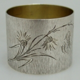 .Coin Silver Engraved Napkin Ring 1900