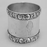 .German 800 Standard Silver Napkin Ring 1890