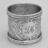 .British Sterling Silver Napkin Ring George Maudsley Jackson London 1894
