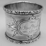 .American Coin Silver Napkin Ring 1864