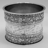 .American Coin Silver Large Napkin Ring 1885