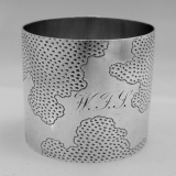 .Aesthetic Coin Silver Napkin Ring Wood and Hughes 1880