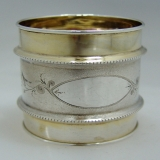 .Aesthetic Napkin Ring Duhme and Co Gilt Coin SIlver 1875