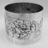 .Sterling Silver Floral Napkin Ring Brandimarte 1970