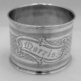 .American Coin Silver Napkin Ring 1880