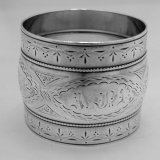 .Coin Silver Napkin Ring 1880