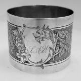 .French Sterling Silver Napkin Ring 1890