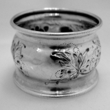 .Coin Silver Repousse Napkin Ring 1875