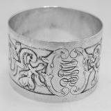 .Acid Etched Sterling Silver Napkin Ring International 1900