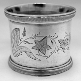 .American Coin Silver Napkin Ring 1870