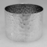 .English Sterling Silver Hammered Napkin Ring