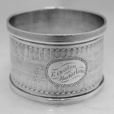 .American Coin Silver Engine Turned Napkin Ring 1880
