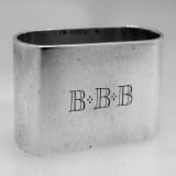 .Sterling Silver Napkin Ring 1940 Currier Roby BBB