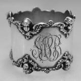 .American Sterling Silver Cherub Napkin Ring 1900