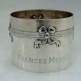 .German 800 Standard Silver Napkin Ring1900