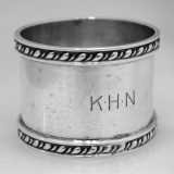 .Gadroon Napkin Ring Currier and Roby Sterling Silver 1930