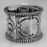 .American Coin Silver Repousse Napkin Ring 1875