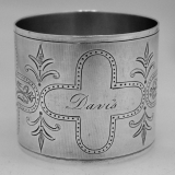 .American Coin Silver Engine Turned Napkin Ring 1890