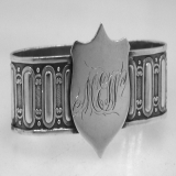 .American Coin Silver Union Shield Napkin Ring Gorham 1865