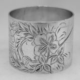 .Sterling Silver Napkin Ring 1880 Monogram G