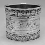 .American Coin Silver Napkin Ring Fleur de Lis 1880