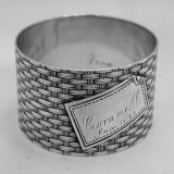 .Coin Silver Napkin Ring 1875