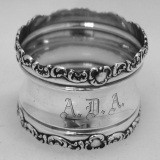 .Sterling Silver Baroque Scroll Border Napkin Ring 1910