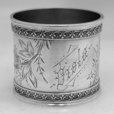 .American Coin Silver Napkin Ring 1875