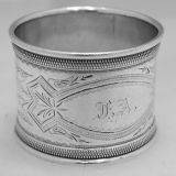 .American Coin Silver Napkin Ring Gorham 1870