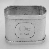 .Chinese 900 Silver US Navy Napkin Ring 1900