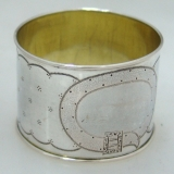.German 13 Loth Silver Buckle Napkin Ring 1875